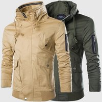 Nueva llegada de la venta caliente 2015 del envío libre ocasionales adelgazan la chaqueta militar Delgado Estilo Diseñado Tamaño Hombre Chaquetas exterior Abrigos Plus JK29