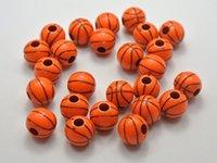basket ball ring - fashion necklace pendant ball500pcs Orange Sparkling Silver Basket Ball Pattern Acrylic Round Beads mm jewelry accessories se