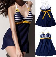 Cheap New Women's Push-up Padded Bathing Suit Swimwear One-piece Bikini Swimsuit Skirt Brand New Good Quality Free Shipping