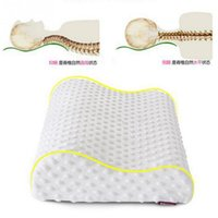 Wholesale detachable and washable rectangle shape slow rebound memory foam pillow for cervical health care
