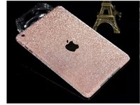 Wholesale Sale Luxury Rainbow Full Body Sticker For Ipad Mini Shiny Glitter Cover Bling Diamond Colorful Front Back Side Skin Case
