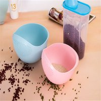 Wholesale Beautiful Design Candy Color in Washing Colander Rinse Bowl and Strainer Fruit Vegetable Wash For Home Cookhouse