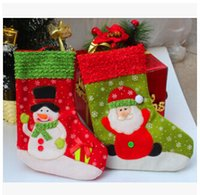 Wholesale Christmas Hanging Stockings Embroidered Tree Santa Ornament Snowman XMAS Festive Christmas Stocking Decoration christmas gifts m497