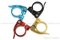 Wholesale New Cycling Rockbros Road Bike bicycle MTB Seatpost Seat Post Clamp Quick Release Clips Clamps QR mm Colors