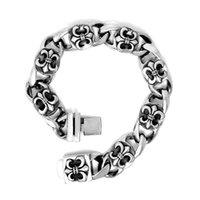 Wholesale HOT FACTORY PRICE cool vintage biker punk cross stainless steel cuff bracelets