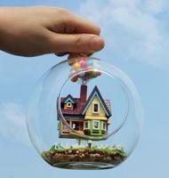 Wholesale DIY Glass House Pixar Film Up Flying Cabin House Model Assembling Novelty Miniature House Toy For Kids