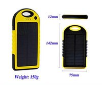 Cheap Universal 5000mAh Dual USB Port Solar Charger External Battery Power Bank With Retail Box For iPhone iPad Mobile Phone Smartphone