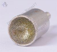 Wholesale 14 mm Grit SPHERICAL CONCAVE Head Diamond Mounted Point CORECAB Grinding Bit for Precious Stones Glass Bone etc