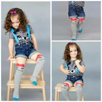 baby scoks - Whosale Children Socks Cute Cartoon Little Bear Little Fox Girl Leggings Baby Girl Knit Pure Cotton Scoks Keen Hights