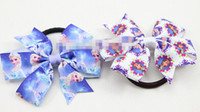 ribbons and bows - 18 OFF Hot Sale Frozen Boutique Bows Elastic Hair band for girl and woman hair Accessories Ribbon Bow Hair Tie Rope Hair Band