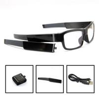Cheap New 1280*720P no pinhole camera glasses DVR HD 720P eyewear DVR with dobule battary Freeshipping High Quality