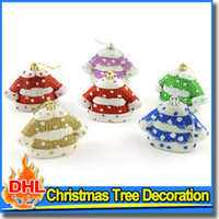 festival clothing - Christmas Tree Ornaments Shaped cm Clothes Painted Plastic Festival Home Party Xmas Tree Hanging Decoration