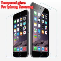 Wholesale Top Quality D Tempered Glass For iphone plus Screen Film Protector mm Explosion Proof Film Guard For Galaxy S6 S4 S5 Note