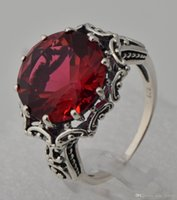 ancient articles - 925 sterling silver series statement luxury wedding restoring ancient ways women jewelry fashion ruby ring adorn article