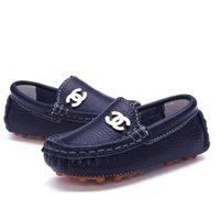 baby girl joker - NEW Genuine Leather children s Doug baby soft bottom shoes boys girls toddler Joker fashion casual shoes with metal
