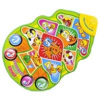 Wholesale Musical Flashing Baby Toys Developmental Mat Play Mats musical No Retail Box English Educational Toys