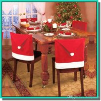 acrylic chairs - hot selling Chirstmas hat for chairs a with opp bag factory price