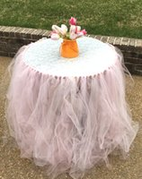 baby nursery decorations - Lace Tulle Tutu Table Skirt Wedding Decorations Wedding Shower Baby Showers Nursery Decor Table Decoration For Party Custom Made