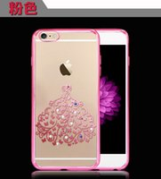 nouvelle or argent d'arrivée pour Shell iphone6s de téléphone plaquage TPU d'Apple 6S impression diamant jupe bricolage téléphone mobile créative __gVirt_NP_NN_NNPS<__ manchon de protection