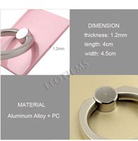 Wholesale Ring Phone Stand Multi Angle Rotation D Alloy Portable Ring Stand for iPhone6 S Samsung tablet