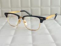 Wholesale DITA STATESMAN THREE titanium with acetate optical frame men women full frame retro vintage shiny K gold