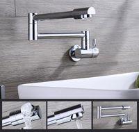 Wholesale Brass Single Handle Pot Filler Faucet Swing Spout Wall Mount Polished Chrome
