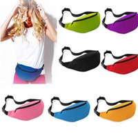 Wholesale Hot Sales Unisex Athletic Outdoor Bags Bag Fanny Pack Hip Waist packs Festival Sport Money Zip Pouch Belt Wallet BX193