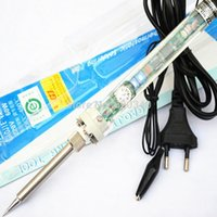 Wholesale EU Plug high quality Adjustable constant temperature Lead free Internal heating electric soldering iron V60W Freeshipping A2