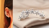 Wholesale Hot Sell Fashion Ear Cuff clip With Flower And Made Of Alloy only piece