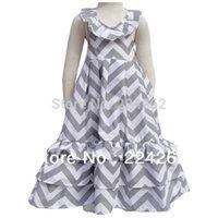 chevron maxi dress - New Arrive Summer Cotton girls chevron maxi dress