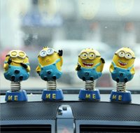 Wholesale Daily Deals Minions movie Action Figure toys Despicable Me Automobiles Interior Accessories Minion Decorations Dolls for cars Decor