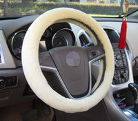 Wholesale Excellent Short Plush Car Steering Wheel Cover Warm Lined with Rubber Ring Non slip car accessories