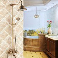 Wholesale Hot Selling Newest Elegant Antique Brass Bathroom Shower Faucet Set Inch Shower Head Hand Spray