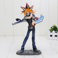 action games boys - 20cm Yu Gi Oh action figure anime King of Game pvc toy figures collection model men boy christmas gifts toys
