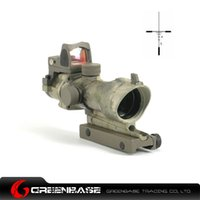 acog gun sights - Tactical x32 ACOG TA01NSN Type Cross Rifle Gun Scope w Docter Brightness Sensitive Red Dot Sight For AR15 Hunting Scope AT NGA0425