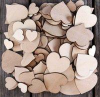 Wholesale 100pcs Bag Small Wooden Plain Heart Craft Shape mm Plywood cm Size
