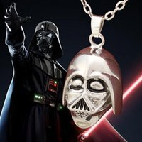 Wholesale 2016 Movie Star Wars Darth Vader helmet surrounding Trek necklace hollow Lost In Space Women Necklace