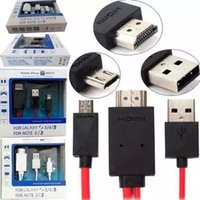 Wholesale 6FT MHL Smart HDTV Adapter Micro USB to HDMI Cable for Samsung Galaxy S4 S5 Note