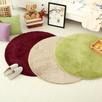 plush carpet - High Quality Diameter cm Colors Round Long Plush Shaggy Soft Carpet Area Rug Slip Resistant Floor Yoga Mat For Bedroom Living Room