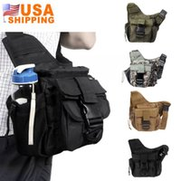 Wholesale US Stock to USA Waterproof Outdoor Sport Tactical Shoulder Strap Bag Pouch D Nylon Travel Bags Backpack Camera Cross Body Bag