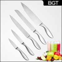 Wholesale 2015 Newest Stainless Steel Kitchen Knife Set Paring Knife Utility Knives Chef Knife Kitchen Tool With Hollow Handle