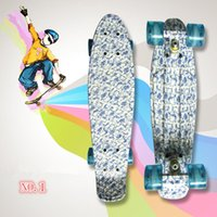 Wholesale New quot High Quality Graphic Series Graffiti Series Mini Cruiser Long Style Floral Skateboard Complete Single Rocker Long Board