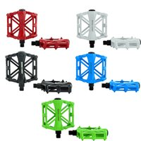 aluminum bike pedal - BaseCamp Ultra light MTB Road Bicycle Bike Pedal Slip resistant Aluminum Alloy Ball Bearing White Blue black Green Red H12438