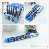Wholesale 2014 Frozen princess Elsa anna colors ballpoint pen ELSA ANNA automatic pen student office stationery Children Cartoon pen FZ48