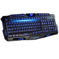 best backlight keyboard - Best English Version Tri color LED Backlight Flyingcolors Mechanical Touch Gaming Advanced Keyboard Game Keyboard for PC Laptop