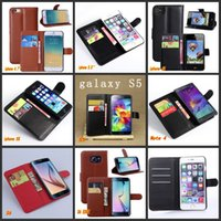 Wholesale For iPhone Plus inch s s Samsung S6 case cover fashion luxury flip leather wallet stand phone case cover G9200 DHL free