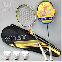 Wholesale WITNESS genuine badminton racket two loaded carbon ultralight single shot offensive Family ymqp double shot full shipping