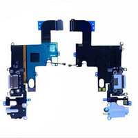 Wholesale Black White For iphone plus G S Headphone Audio Dock Charger Charging USB Port Connector Ribbon Flex Cable Replacement