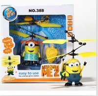 Wholesale DHL Children Gift Remote sensing Minions Despicable Me Toy Doll RC helicopter rc toys Flying Fairy Drones