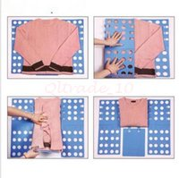 Wholesale 600pcs CCA3479 New Arrival Candy Color Clothes Folder Board Kids T shirt Folding Board Flip Fold Shirt Folder Flip Fold Board Quick Press